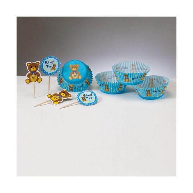 Baby Mazel Tov Cupcake Decorating Set: Blue