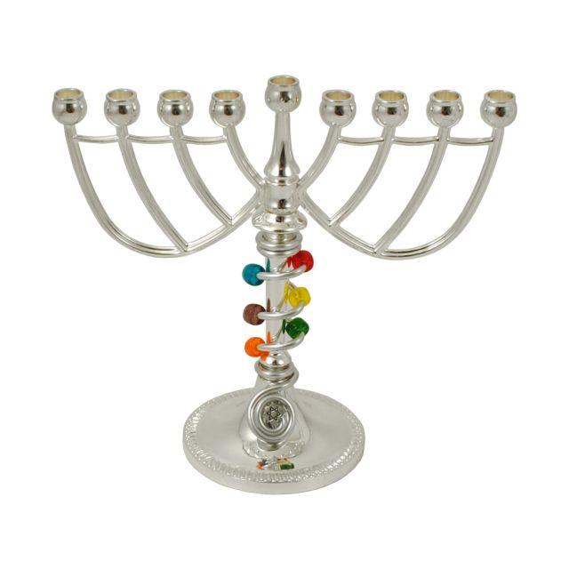 Beaded Traditional Menorah by Jillery