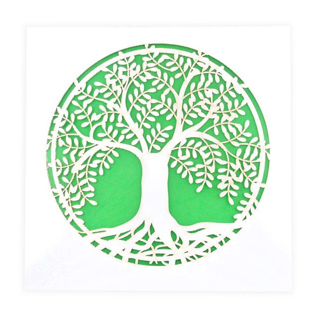 Blank Lasercut Tree of Life Notecard by Two Hermanas