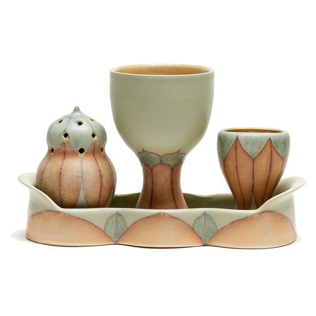 Ceramic Havdallah Set by Jennifer Wankoff