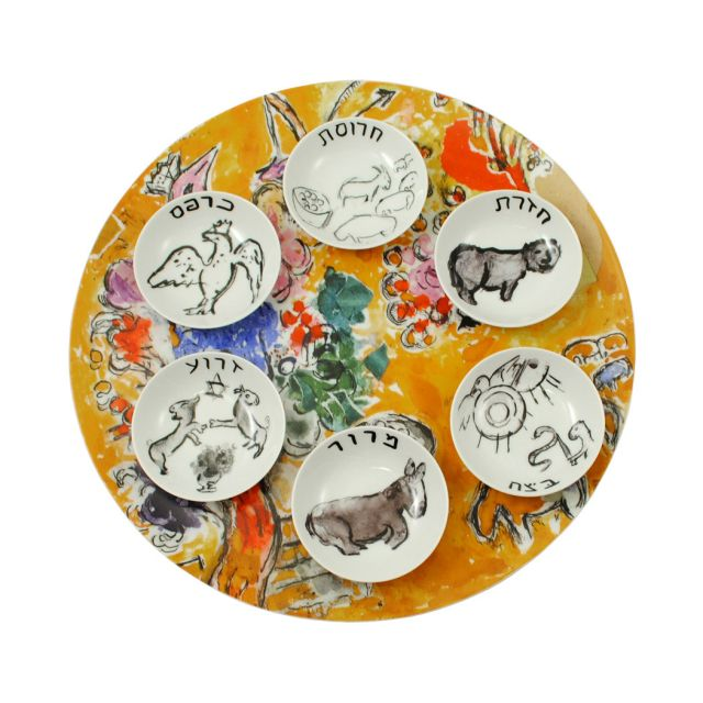Chagall Seder Plate Set by Bernardaud