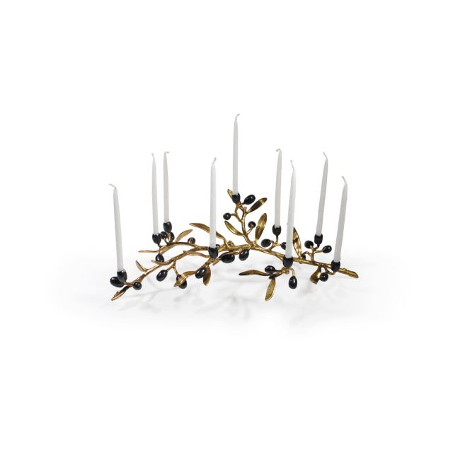 Gold Olive Branch Menorah by Michael Aram