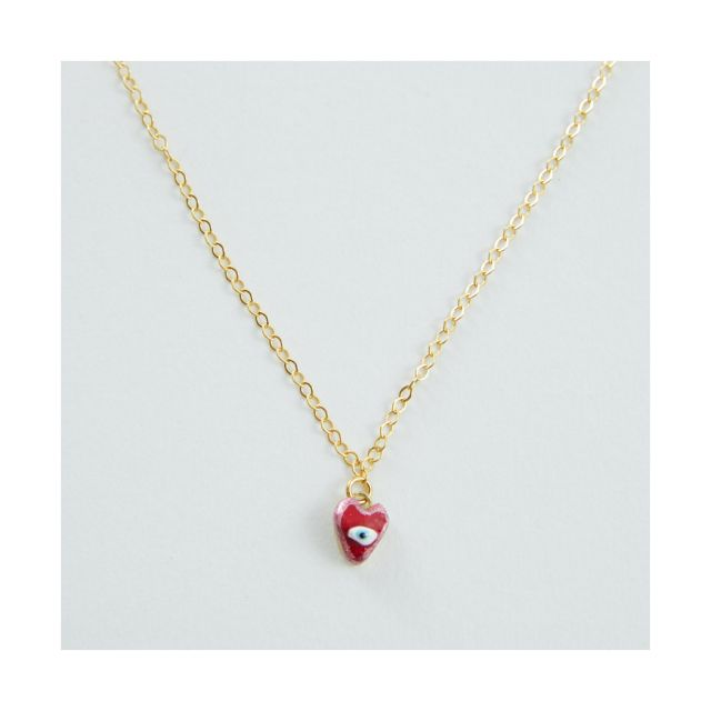 Heart with Evil Eye Necklace by Susan Alexandra