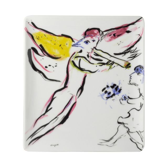 Marc Chagall Sketch for Red Angel Plate by Bernardaud