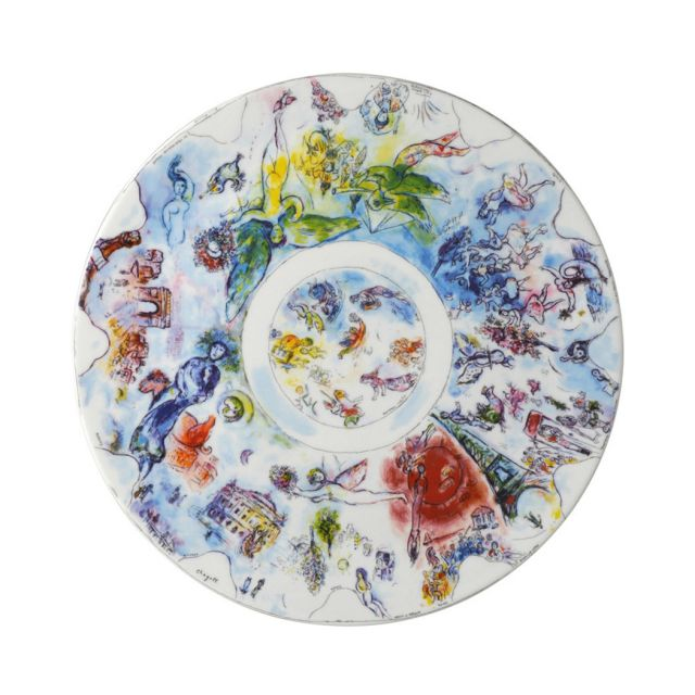 Marc Chagall Sketch for the Opera Ceiling Plate by Bernardaud