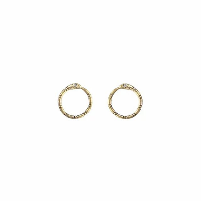 Ouroboros Earrings by Acanthus Jewelry