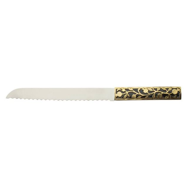 Pomegranate Challah Knife by Quest Collection
