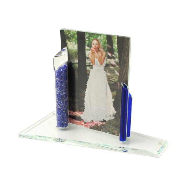 Custom Smash Glass Wedding Frame by Shardz